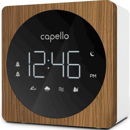 Digital Alarm Clock with Sound Machine Black/Larch - Capello®